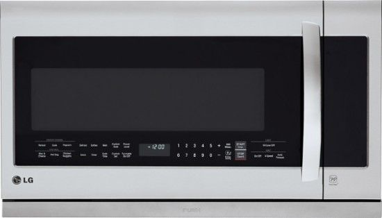 LG - 2.2 Cu. Ft. Over-the-Range Microwave - Stainless steel - Front_Zoom
