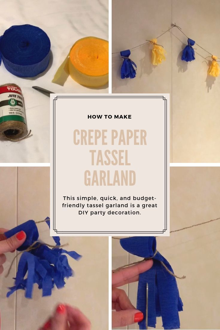 Tassel garland makes a great DIY party decor idea. This party garland is made of crepe paper and is super cheap. It is a simple kind of tassel g ...