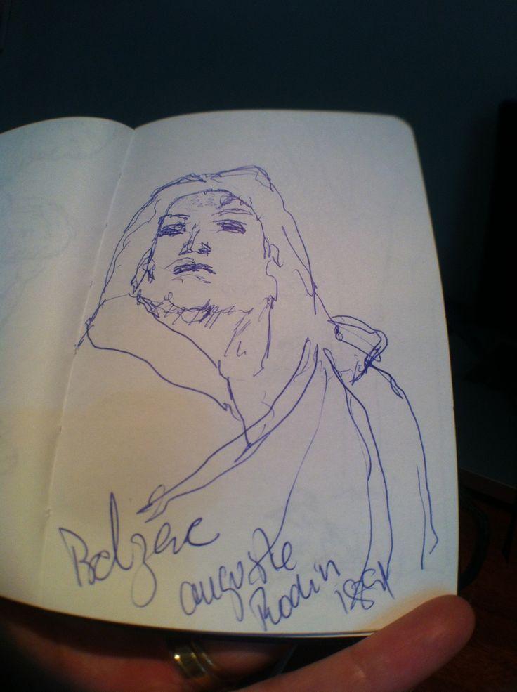 Balzac de Auguste Rodin ... adoro