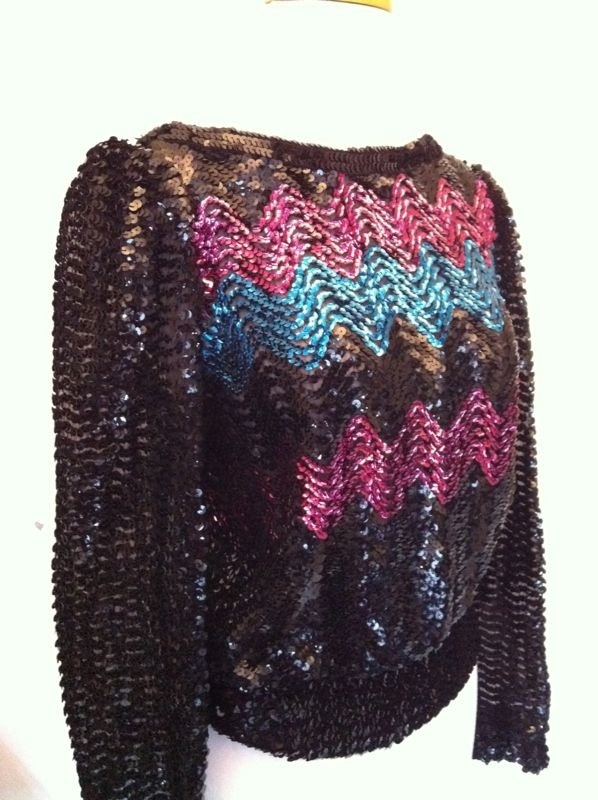 80s Sequined pullover. $37 @ http://swiftandfaire.tumblr.com/