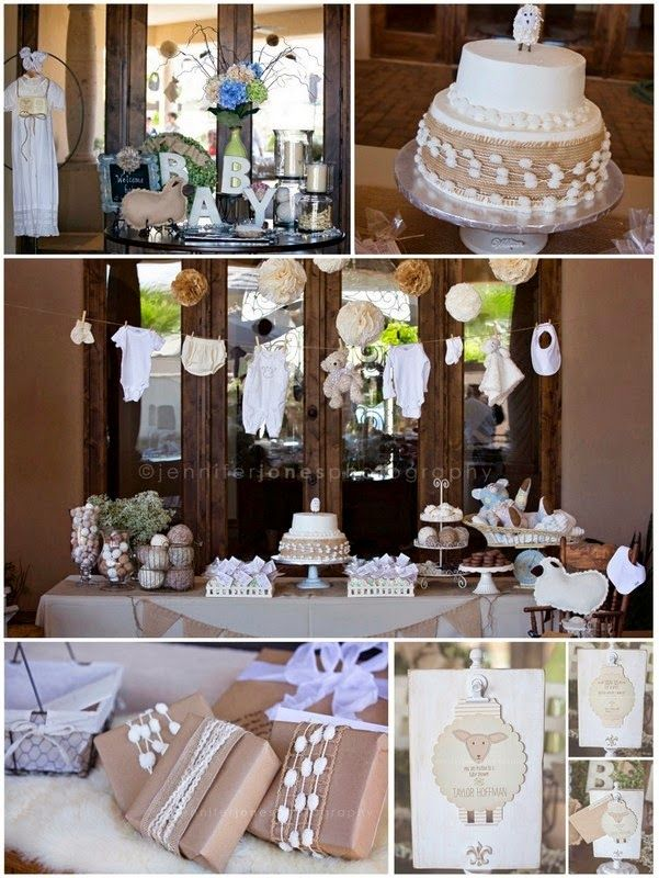 Vintage Lamb Themed Neutral Baby Shower Jennifer Jones Photography Little  Lamb Baby Shower Decorations