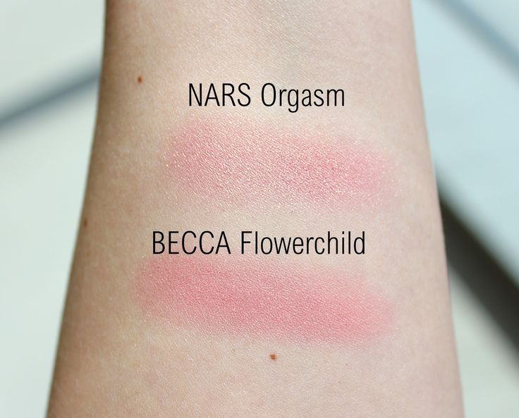 BECCA Flowerchild Mineral Blush Review & Swatches, NARS Orgasm Dupe