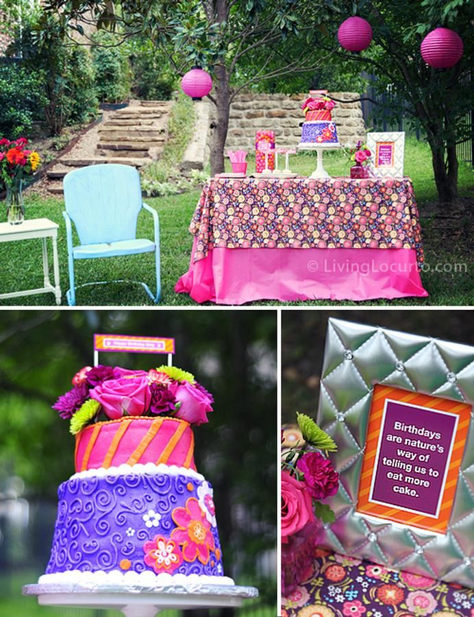 40th birthday party ideas! Makes the idea of turning 40 look fun..until I see the gray hairs in the mirror.... lol