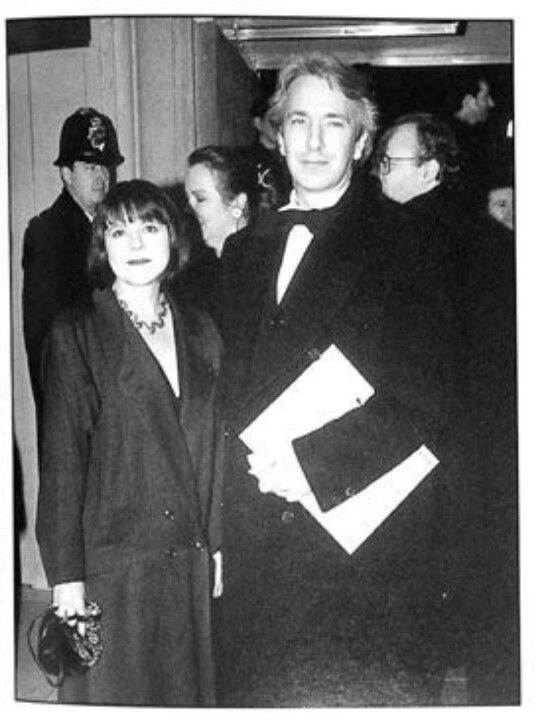 Alan Rickman and Rima Horton have been together since 1965.