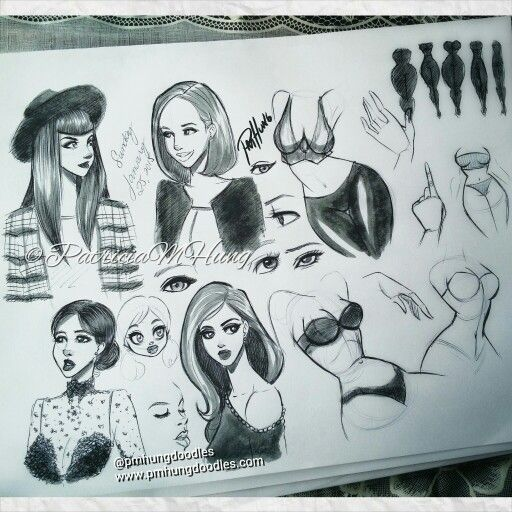Fashion. Pen and copic doodles  Pin up art by Patricia M Hung  ©PatriciaMHung   http://www.pmhungdoodles.com  https://www.facebook.com/pmhungdoodles