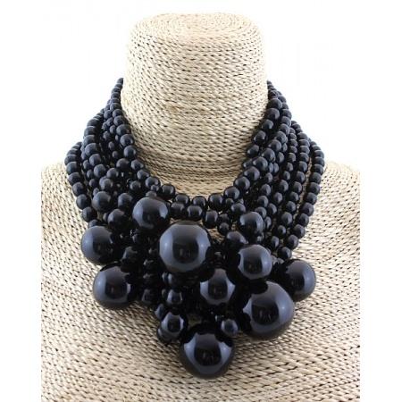 Monies Black Horn Cascading Necklace