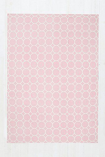 Circle Dot 5x7 Rug in Pink - Urban Outfitters