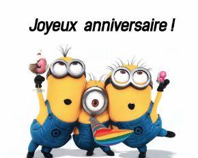 Les minions te souhaite un joyeux anniversaire !!!