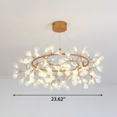 Indoor Accent Lighting Rose Gold Branch LED Chande…