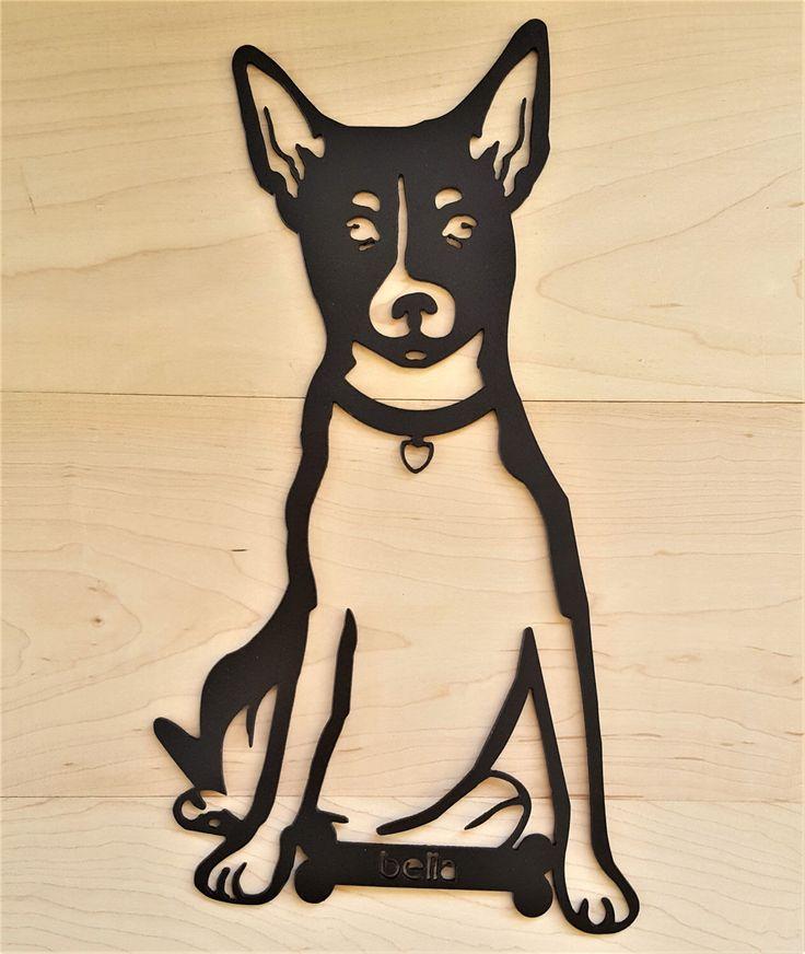 Gepersonaliseerde huisdier hond Rat Terrier Wall Decor opknoping outdoor indoor aangepaste aangepaste Toy Fox geliefde dier dierenarts cadeau pup silhouet kunst door KindredMetalDesign op Etsy https://www.etsy.com/nl/listing/498494010/gepersonaliseerde-huisdier-hond-rat