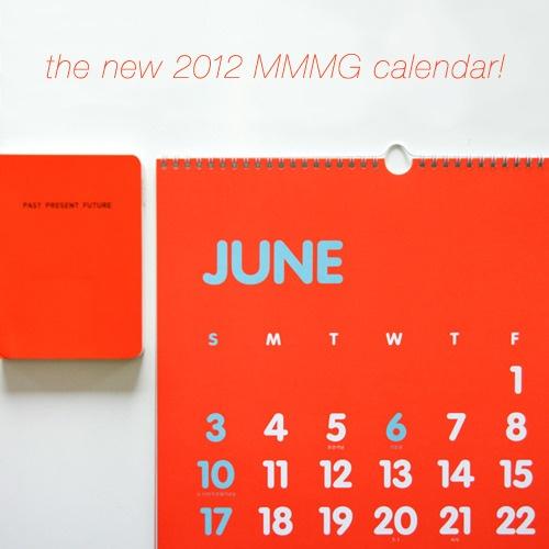 MMMG 2012 wall calendar