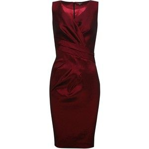 Alexon Taffeta Dress, Red