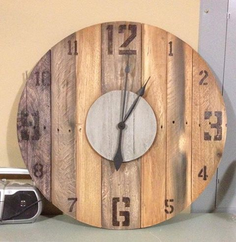 65 Best Pallet Clocks Images On Pinterest Pallet Clock