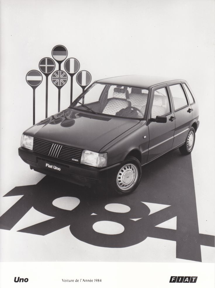Fiat Uno - car of the year (Salon Brussels, 1/84)