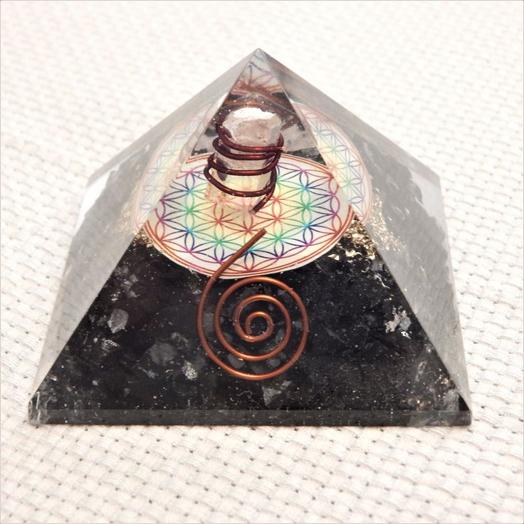 """Excited to share the latest addition to my #etsy shop: Orgone flower of life, Orgonite Pyramid spiral """"The Source of Peace & Power"""" http://etsy.me/2nFqcTc #housewares #orgonite #orgone #reiki #spiral #floweroflife #aerikoshop"""