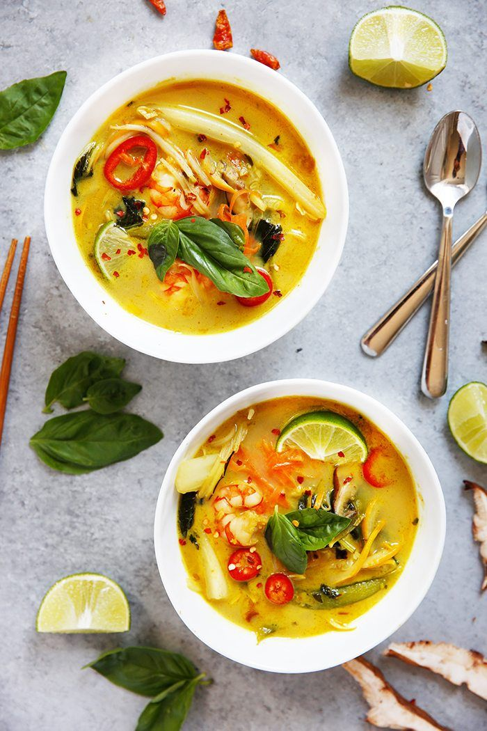Thai Curry Soup from lexiscleankitchen.com on foodiecrush.com