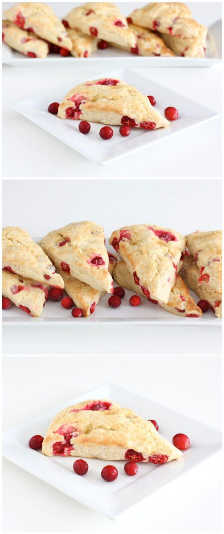 Cranberry Scones Recipe on twopeasandtheirpod.com The perfect recipe for cranberry season!
