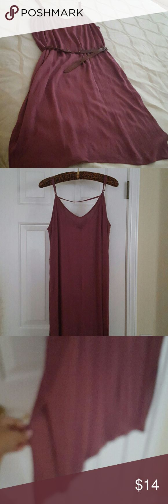 Beautiful dress paired with cowgirl boots. Dress with slit on the sides can worn with tights and boots or alone. shown with belt but Not included Dresses Midi