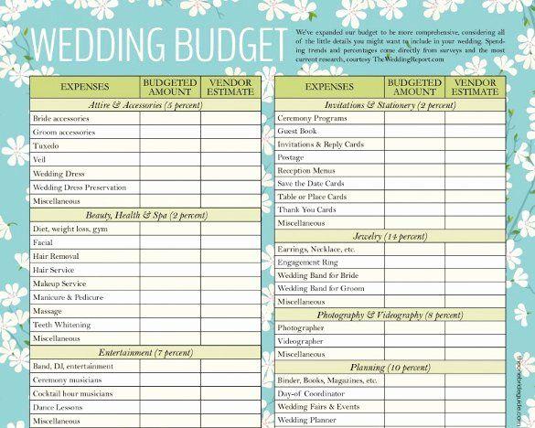 Wedding Planner Template Free Download Beautiful Wedding Bud Template 16 Free Word Ex Wedding Budget Template Wedding Budget Spreadsheet Wedding Budget Planner