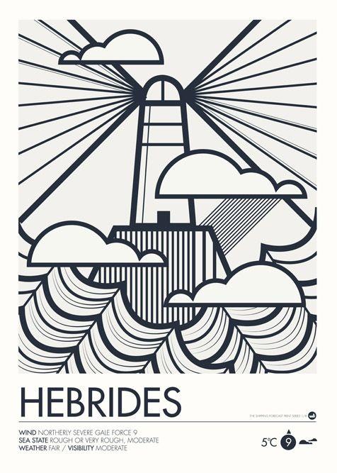 Image of Shipping Forecast Prints - Hebrides