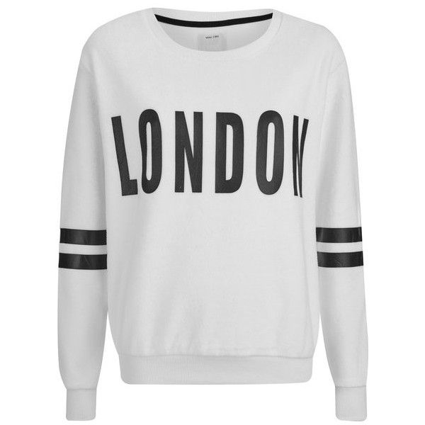 ONLY Women's Kerry Long Sleeve Sweatshirt - Cloud Dancer (£35) ❤ liked on Polyvore featuring tops, hoodies, sweatshirts, cream, sweat shirts, long sleeve sweatshirt, ribbed top, sweat tops and long sleeve tops