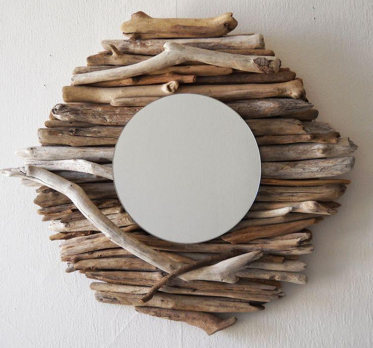 Les 17 meilleures images du tableau en bois flottes sur for Miroir cadre bois flotte