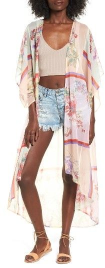 Women's Band Of Gypsies Floral Chiffon Kimono. #ad