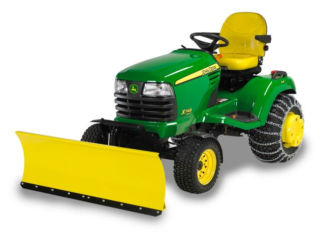Lawn Tractor Snow Plow Attachment : John deere inch quick hitch front blade snow removal