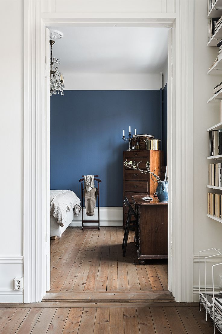 Inky blue walls