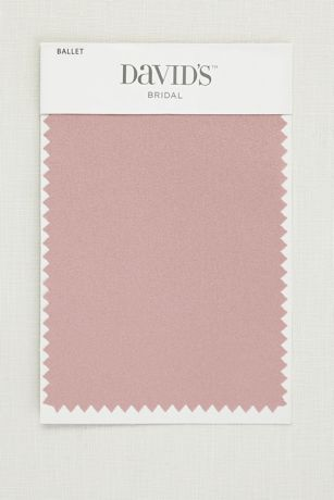 Get your color swatches to perfectly coordinate your big day! Fabric Swatch shown in Ballet at David's Bridal.