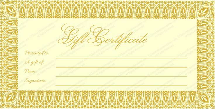 template for gift certificate for services