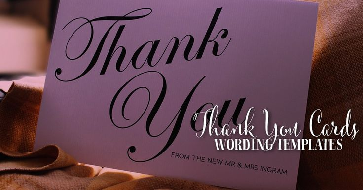 Wedding Thank You Note Wording: 1000+ Ideas About Thank You Card Wording On Pinterest