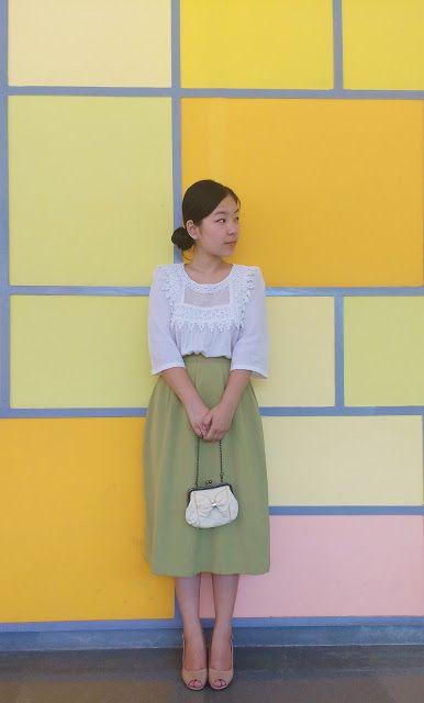 The Thrift Wardrobe: Vintage & Pastels