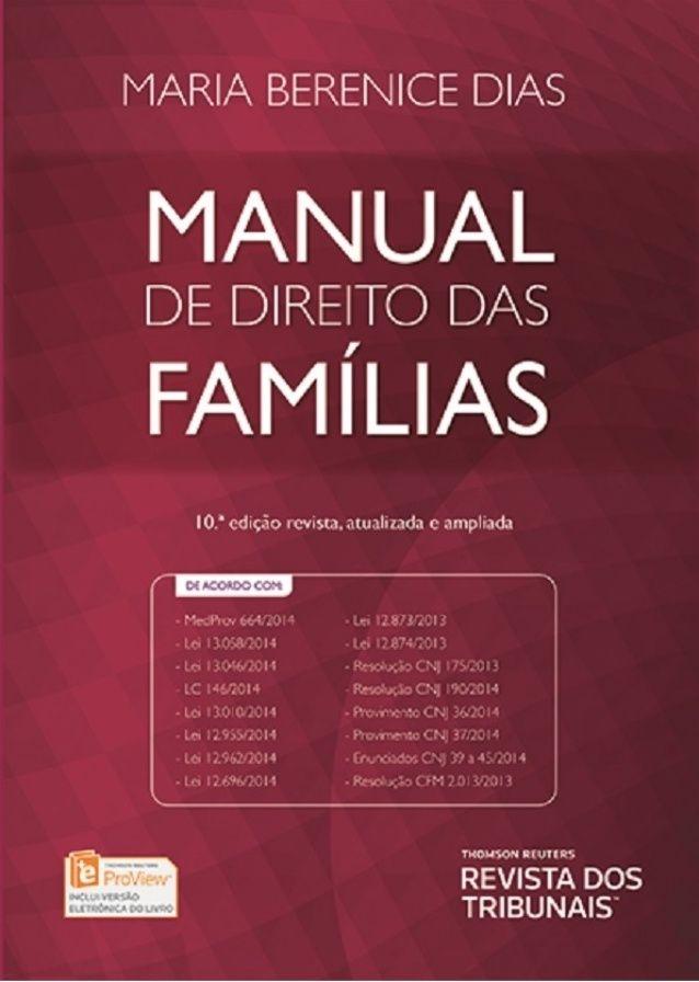 Manual de direito das famílias   maria berenice dias - 2015