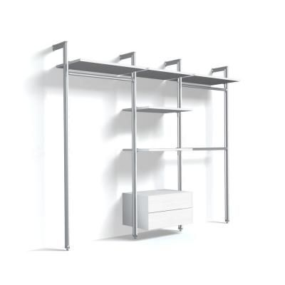 Space Pro Relax Closet Kit 6 With Long Hanging, Double Hanging, White  Drawers And Shelves For Openings At 100 In. Space Pro Relax Storage  Solutions Are Easy ...