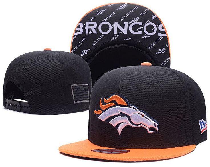 Men's Denver Broncos New Era 9Fifty NFL Crafted in America Snapback Hat - Black / Orange