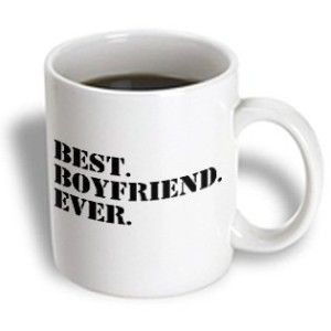 3dRose Best Boyfriend Ever Romantic Love Gift for Him Anniversary Valentines Day, Ceramic Mug