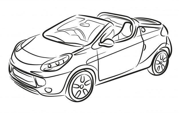 Sport Cabrio Hand Gezeichnet Autoskizze Sport Cabrio Hand Gezeichnet Automatische Skizze Premium Vektor Freepik Ve In 2020 Auto Skizze Auto Zeichnen Cabrio