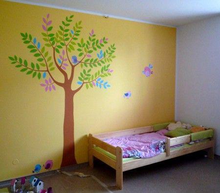 Malovani na zdi - detsky pokoj Civice.JPG :: Atelier Tizijana - malování na zeď, malby na zdi, výzdoba interiéru, Jana Pirklová, malovani na zdi, malba na zed