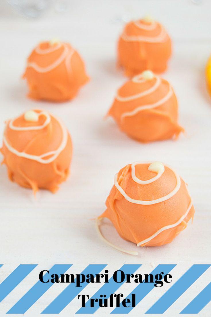 Knackige Pralinen aus weißer Schokolade, gefüllt mit einer fruchtig herben Campari Orange Trüffelcreme – Die Ideale Praline für den Sommer!