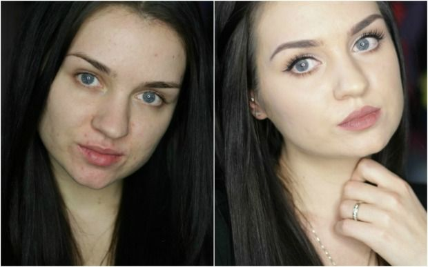 Estee lauder double wear foundation before and after #makeup #esteelauder #beauty #beforeandafter