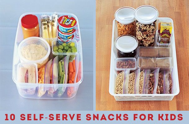 Not quite ready for self serve yet, but good ideas.  10 Self-Serve Snacks for Kids | | Kiddley
