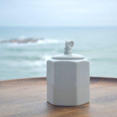 """Maia Ming Designs Guardians Elephant Cookie Jar Size: 5.25"""" H x 5.25"""" W x 5"""" D"""