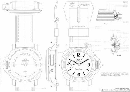 travelist:  vintage Panerai blueprint