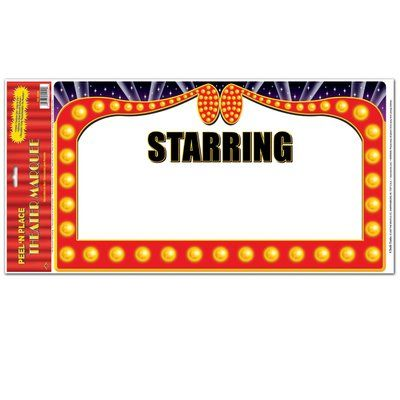 The Holiday Aisle Theater Marquee Peel 'N Place (Set of 4)