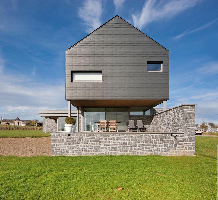 Vertigo slates by marley eternit architecture for Fiber cement composite roofing slate style