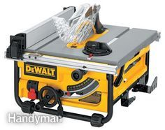Table saw review photo of the DeWalt DW745 - What's the Right Saw for You? http://www.familyhandyman.com/tools/table-saws/portable-table-saw-reviews/view-all