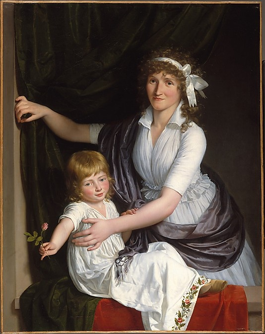 Portrait of a Woman and Child  French Painter, about 1795–98: