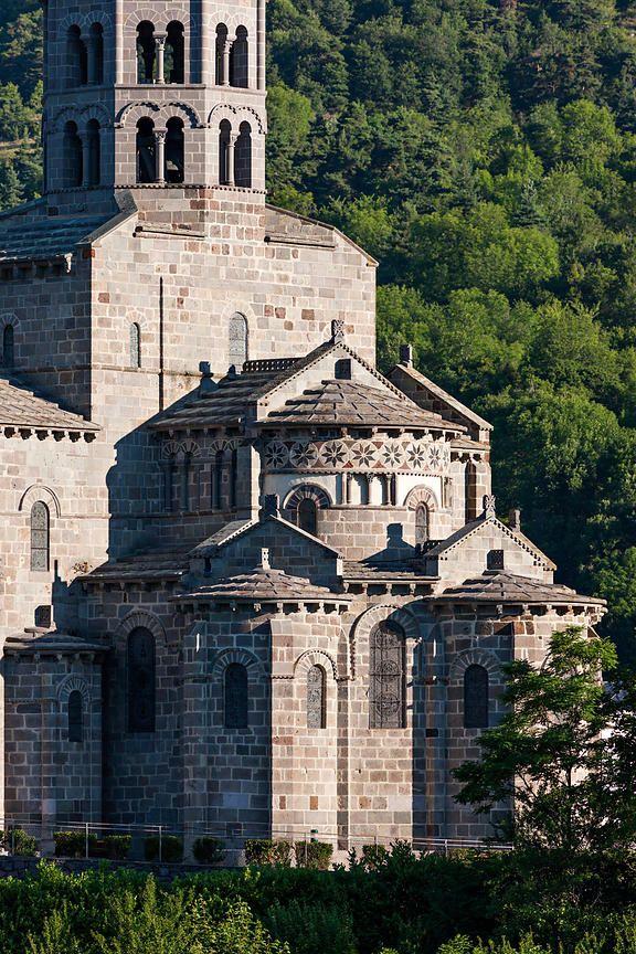 beautiful saint nectaire church, romanesque style