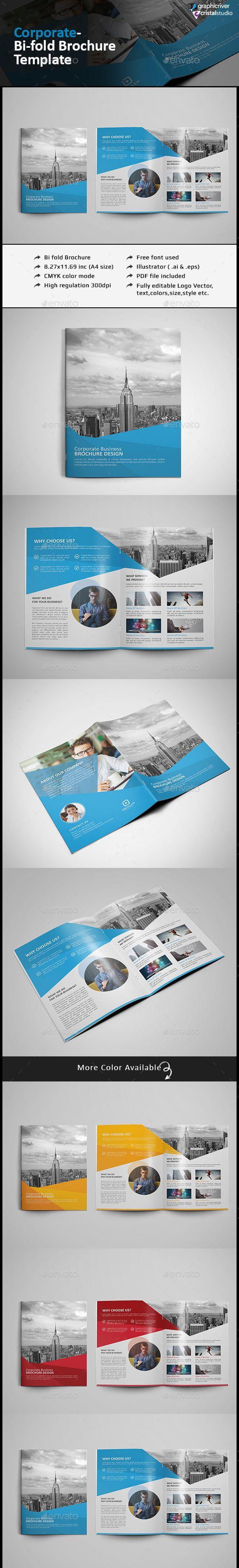 Bi Fold Brochure- Multipurpose  —  EPS Template • Download ➝…
